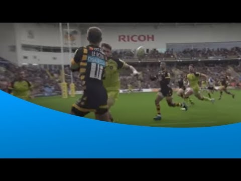 Kurtley Beale scores the opening Semi Final try for Wasps
