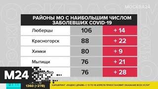 В Подмосковье выявлено 278 новых случаев заражения коронавирусом за сутки - Москва 24