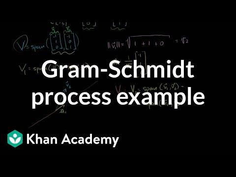 Gram-Schmidt process example | Alternate coordinate systems (bases) | Linear Algebra | Khan Academy
