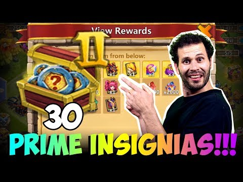 JT's F2P 30 Insignia Packs INSANE Hero Collector Castle Clash