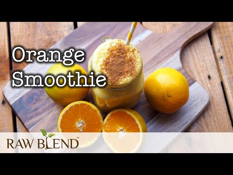 How To Make A Smoothie (Orange Recipe) In A Vitamix Pro 500 Blender