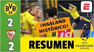 Dortmund 2-2 Sevilla. Haaland, IMPARABLE. Ni Messi, ni CR7 se acercan a su récord | Champions League
