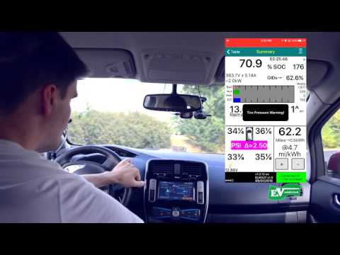 Veepeak vp17 wifi OBD2 on iPhone 6 and Leaf Spy | downhill regenerated vs  Uphill consumed energy