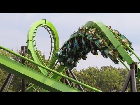 Green Lantern Roller Coaster (off ride) Six Flags Great Adventure