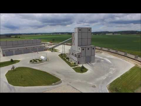 Oregon WI cement factory fly around