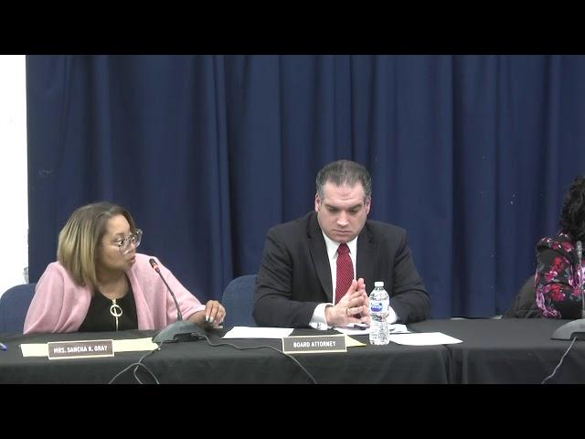 Asbury Park Board of Education - Reorganization Meeting - Jan. 2, 2020