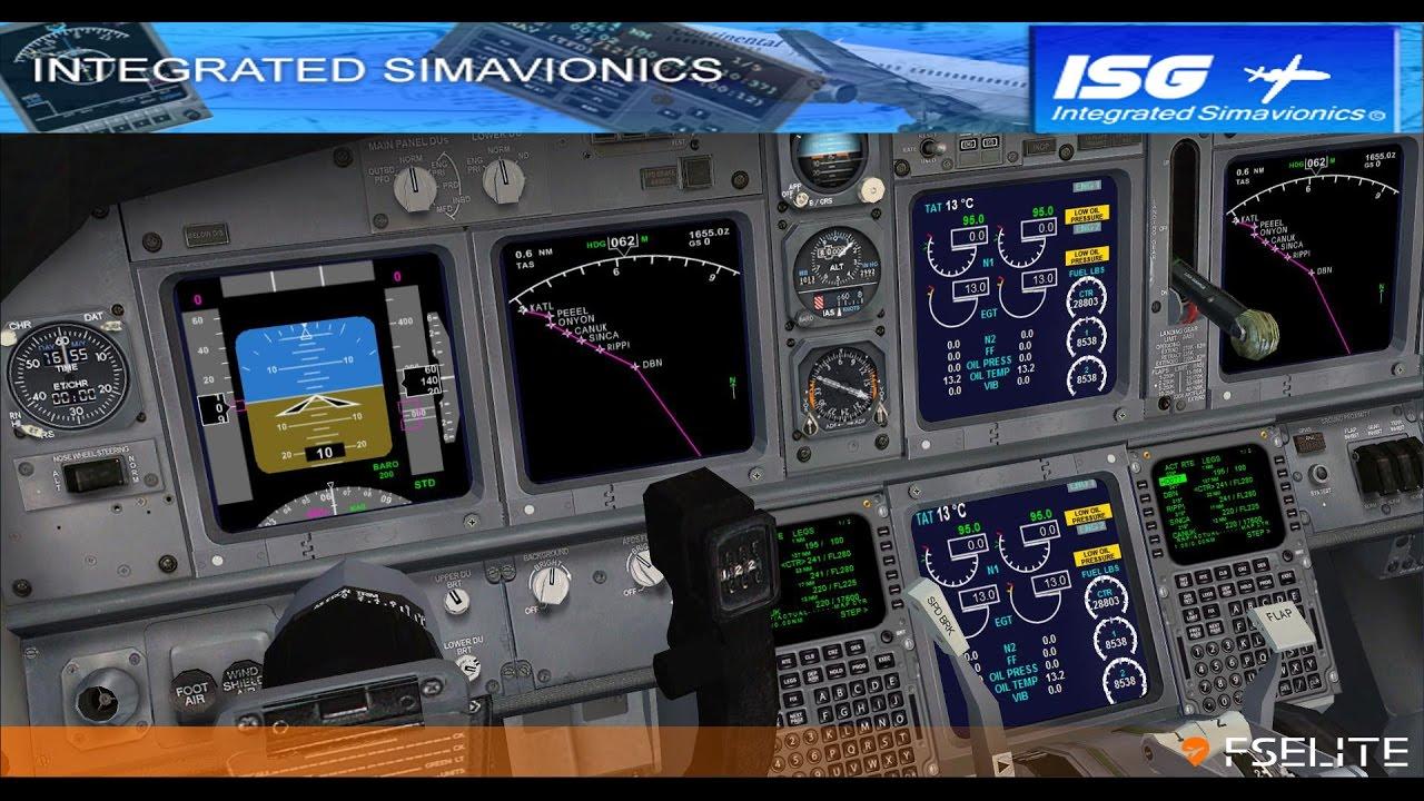 Integrated Sim Avionics Showoff
