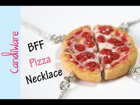 Tutorial: DIY Friendship Pizza Necklace - FIMO, Polymer Clay 🍕