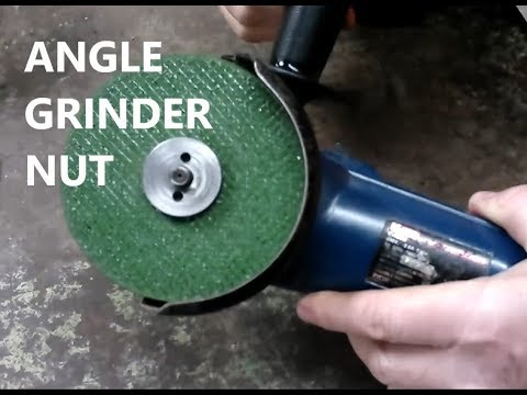 Making A New Angle Grinder Nut