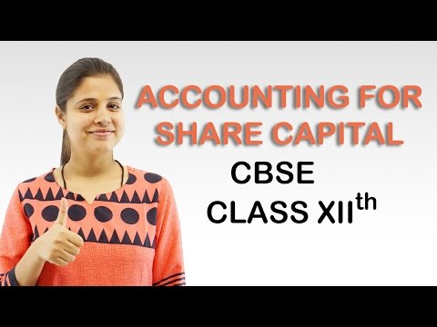 Accounting For Share Capital, Introduction (Accounts Class 12th)