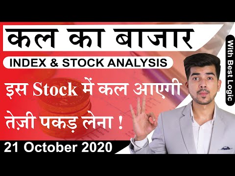 Best Intraday Trading Stocks for 21-October-2020 | Stock Analysis | Nifty Analysis | Share Market