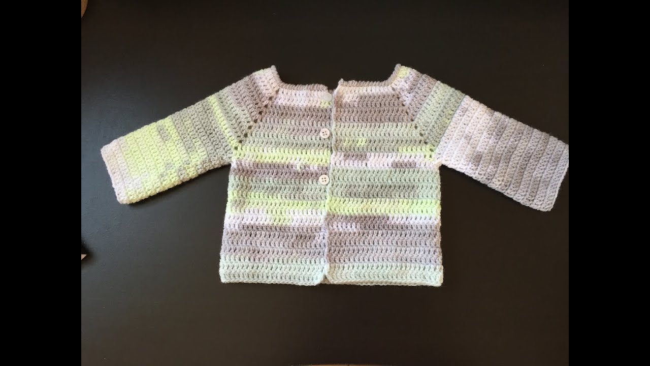 Super Tuto facile gilet, veste enfant au crochet - YouTube FO67