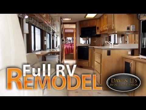 Motorhome remodel  Heated tile floor motorized tv lift
