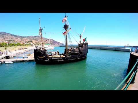 Madeira summer 2016 4k, Porto y Avenida do Funchal, Harbour and Boulevard of Funchall