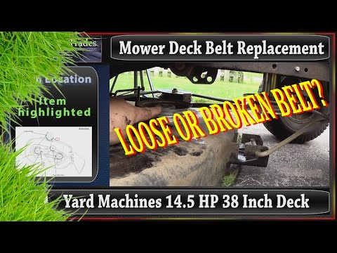 MTD OEM belt replacement for a yard machines 38 inch mowing deck