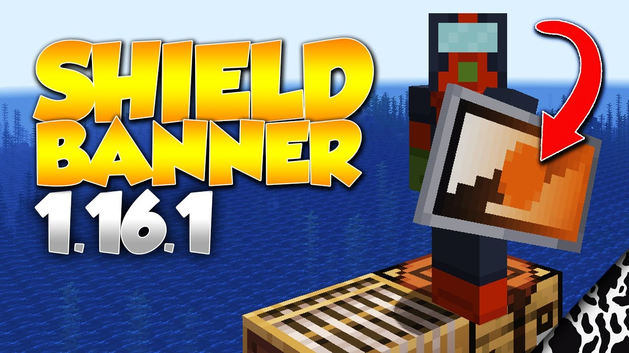 Minecraft How To Put A Banner On A Shield Tutorial 1 16 1 Java Youtube
