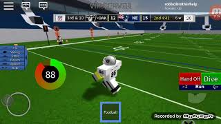 Legendary football on roblox doing qb and wr