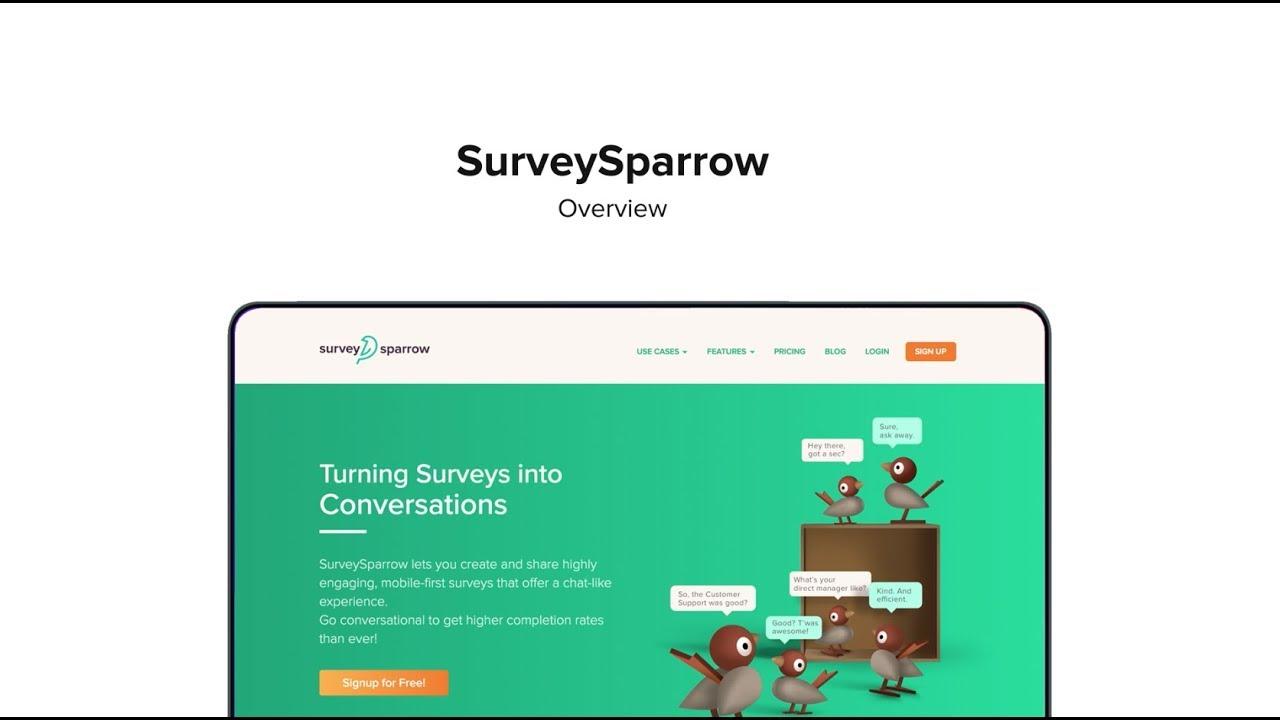 SurveySparrow Overview - YouTube