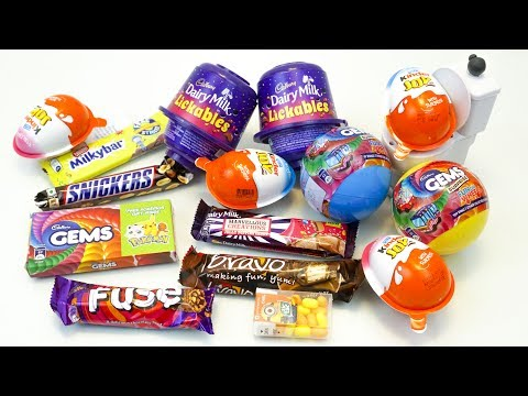 KINDER JOY AND OTHER CANDIES OPENING