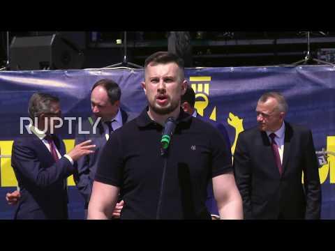 Ukraine: Far-right Azov Battalion hold parade for fourth 'victory' anniversary
