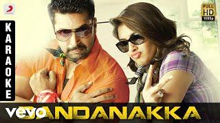 Romeo Juliet Dandanakka Karaoke | D. Imman | Jayam Ravi, Hansikha Motwani
