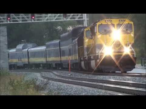 Alaska  Diesel Train   4317+4323 Arriiving  in Anchorage