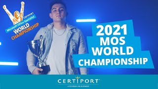The 2021 microsoft office specialist (mos) world championship presented by certiport, inc. is a global competition that tests students' skills on o...