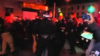Arrest by 67th Precinct #BrooklynProtest East Flatbush 3-13