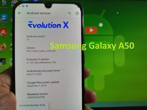 EvolutionX 4.1 for Samsung Galaxy A50 GSI ROM Android 10