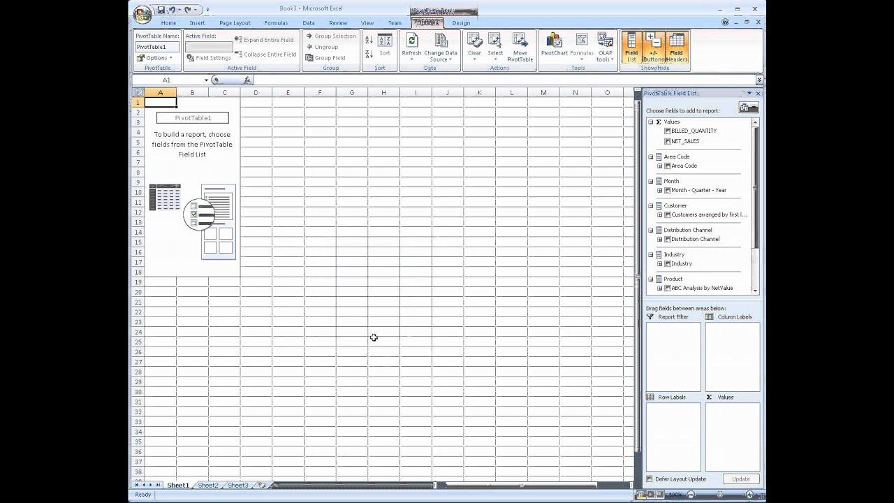 Using Excel with SAP HANA