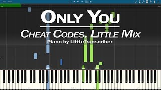Cheat Codes, Little Mix - Only You (Piano Cover) Synthesia Tutorial by LittleTranscriber