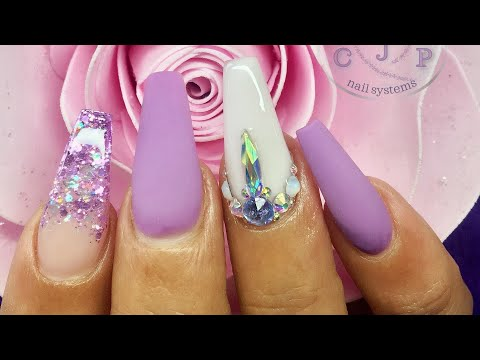Acrylic Nails | Matte Lilac | Real Time Application