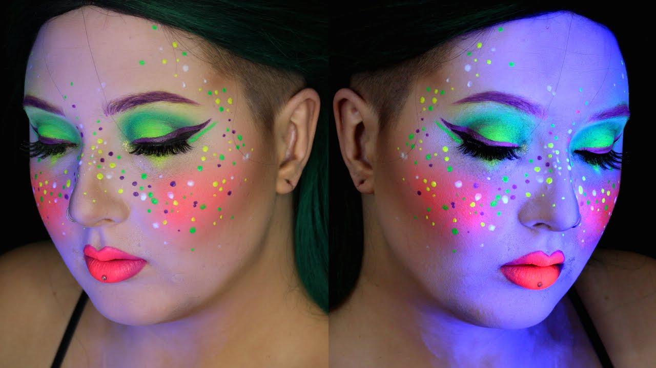 Neon Colorful Edc Makeup Tutorial Jordan Hanz Youtube
