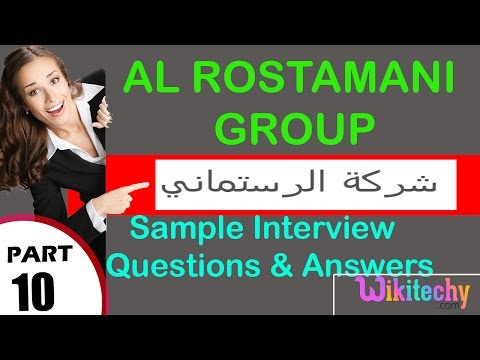 al rostamani group top most technical interview questions and answers مجموعة الرستماني