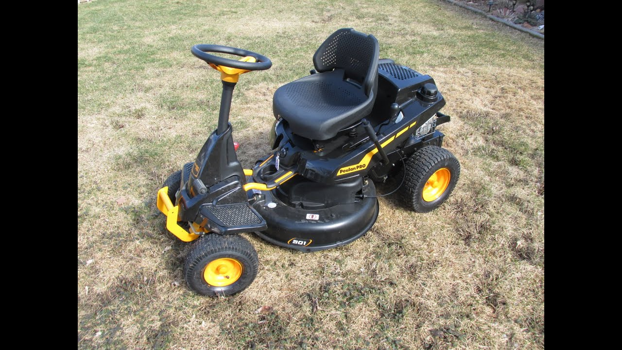 Poulan Pro Pb301 Riding Lawnmower Review Youtube