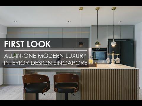All-In-One Modern Luxury Executive Apartment in Pasir Ris, Singapore | Posh Home Interior Design
