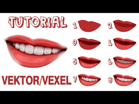 Normal Speed #VEXEL/VECTOR ART BIBIR (Photoshop) Untuk Pemula....