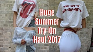 HUGE SUMMER TRY ON HAUL 2017 brandy melville, urban outfitters, topshop, american eagle +more