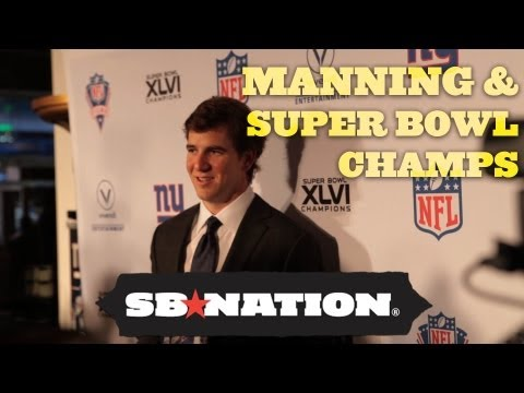 Eli Manning and the Super Bowl Champions with Joe Ruback