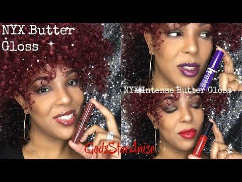 💋NYX Intense Butter Gloss & Butter Gloss Swatches💋