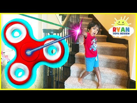 Thumbnail: GIANT FIDGET SPINNER Chase and Hide N Seek Kids Pretend Playtime Family Fun Prank