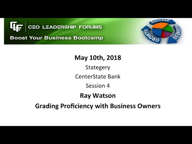 2018 05 10 CEO Leadership Session 04 Watson