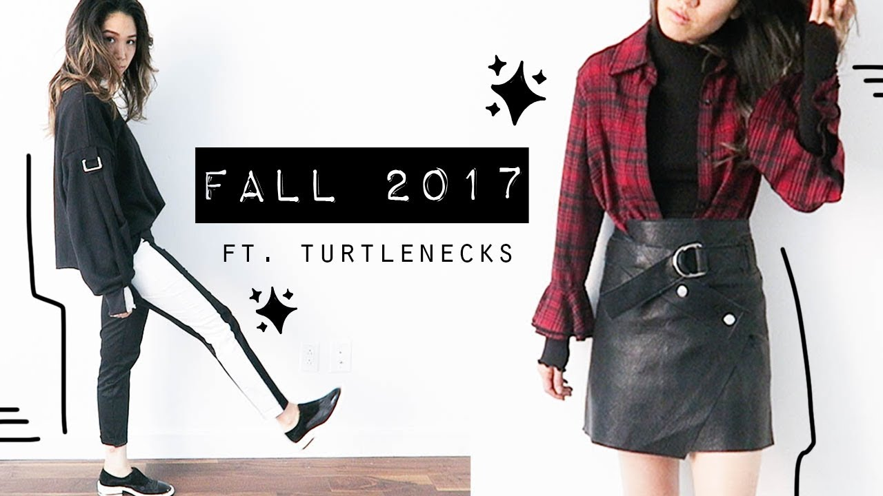 Fall Trends Styling & Layering Turtlenecks | Thrifted Outfits Lookbook 2017 6