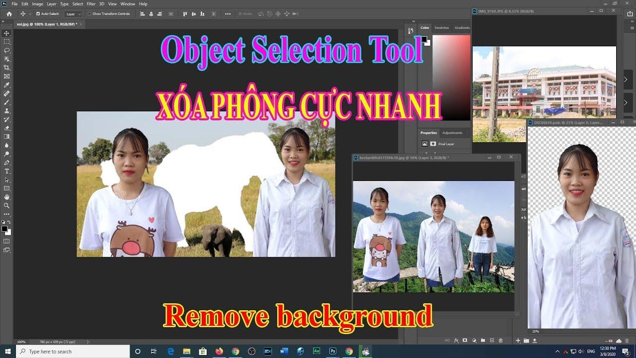 Tính năng mới Photoshop 21.1 xóa thay đổi phông nền lập tức Remove background