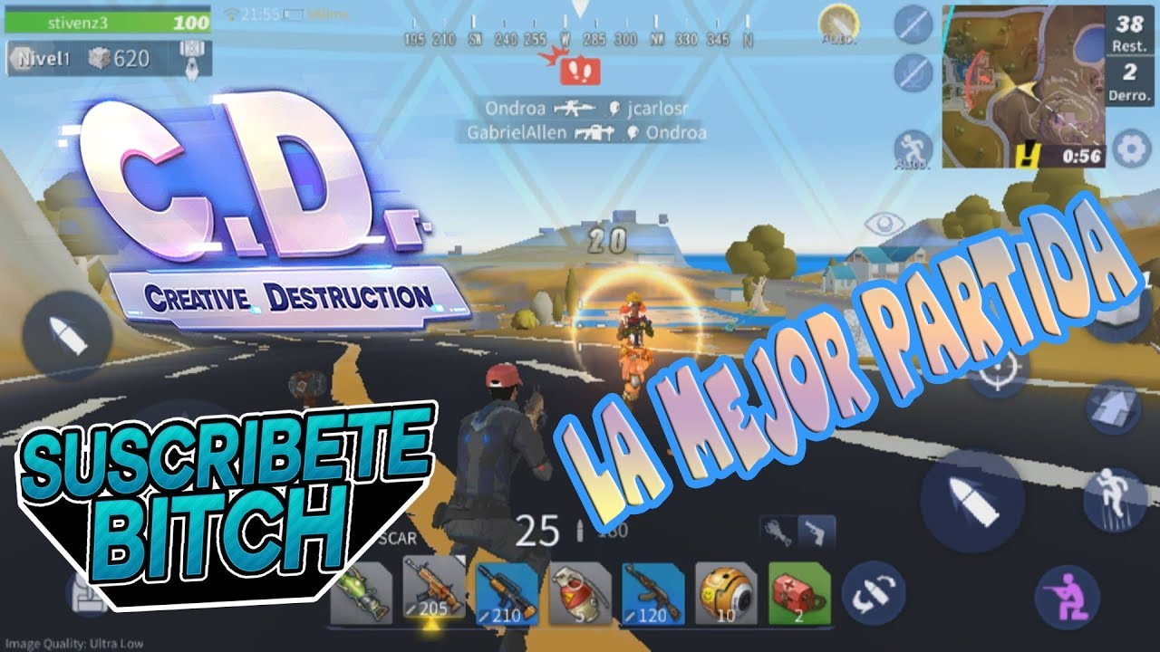 Quede en 3er lugar whaaat !!!!! creative destruction/ Stivenz (Android/ pc)