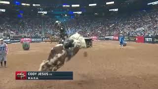 Window Rock PBR Bullrider Cody Jesus rides M.A.G.A for 87.75 points (PBR)