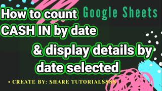 How to calculate cąsh inflow and display details according to selected date