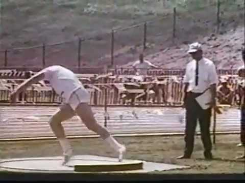 Randy Matson World Record Shot Put 21.52 and 21.78 1965-67.mp4