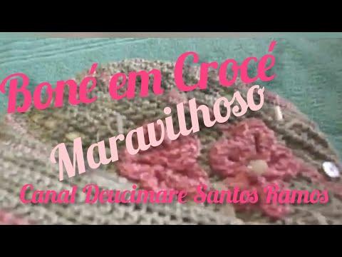 64d4841f419bf   Boné de Crochê ( Maravilhoso ) - YouTube