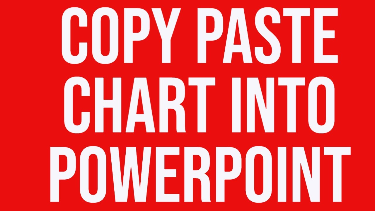 also copy paste excel chart into powerpoint using special youtube rh